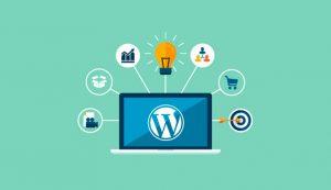 طرح گرافیکی از امکانات وردپرس در طراحی فروشگاه آنلاین با وردپرس