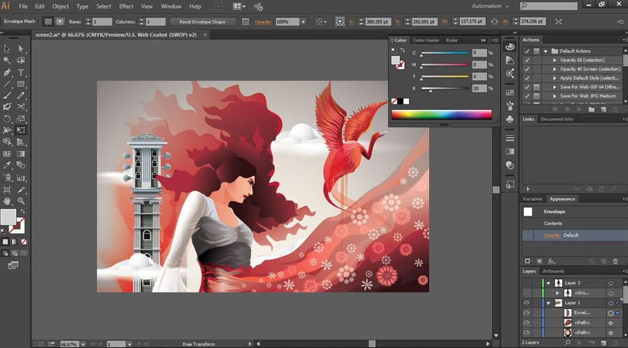 آموزش تولید محتوای گرافیکی با نرم افزار ایلوستریتور Illustraitor