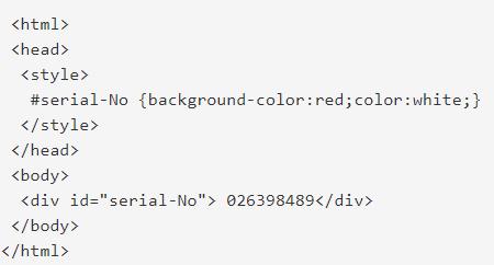 مثال id برای class